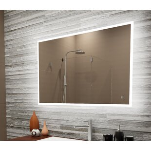 Price comparison Bone Reflection Dimmable LED Lighted Frosted Edge Bathroom/Vanity Mirror By Orren Ellis