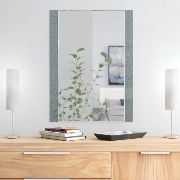 Longwell Green Frameless Wall Mirror by Wade Logan