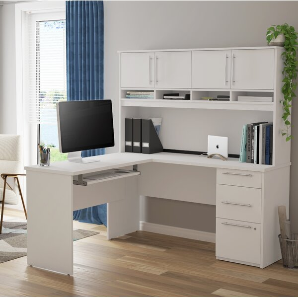 Lacasse Plus L-Shaped Computer Desk with Hutch by Symple Stuff