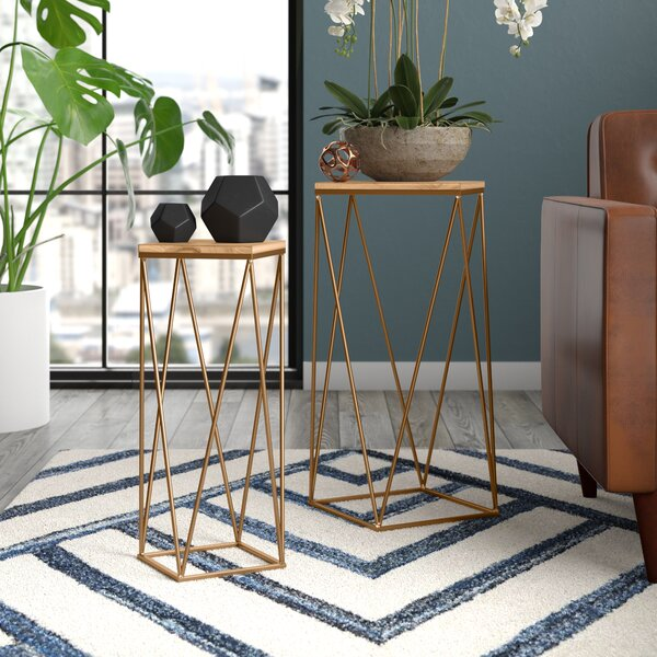 Home & Outdoor Lofland 2 Piece Frame Nesting Tables