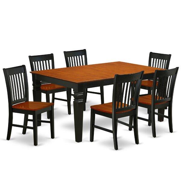 Bonenfant 7 Piece Extendable Solid Wood Dining Set By Winston Porter