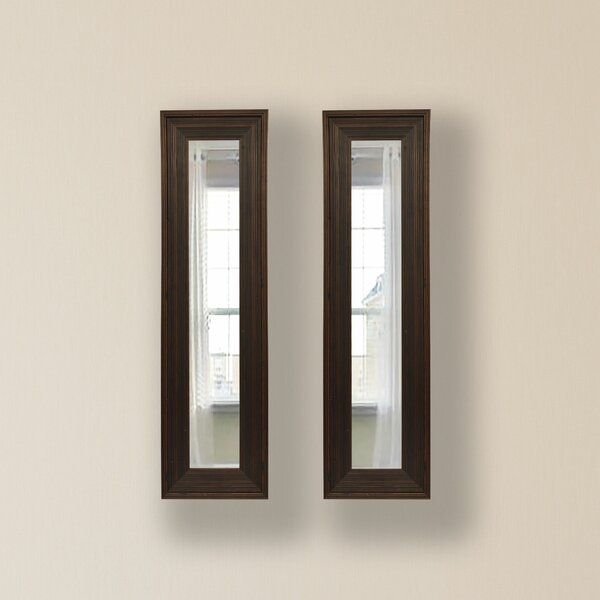 2 Piece Kincannon Panels Mirror Set (Set of 2) by Charlton Home