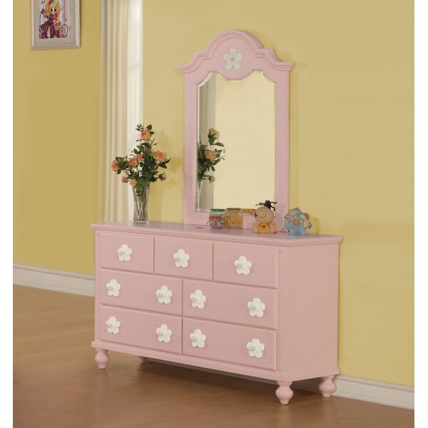 Eslick 7 Drawer Dresser with Mirror by Harriet Bee