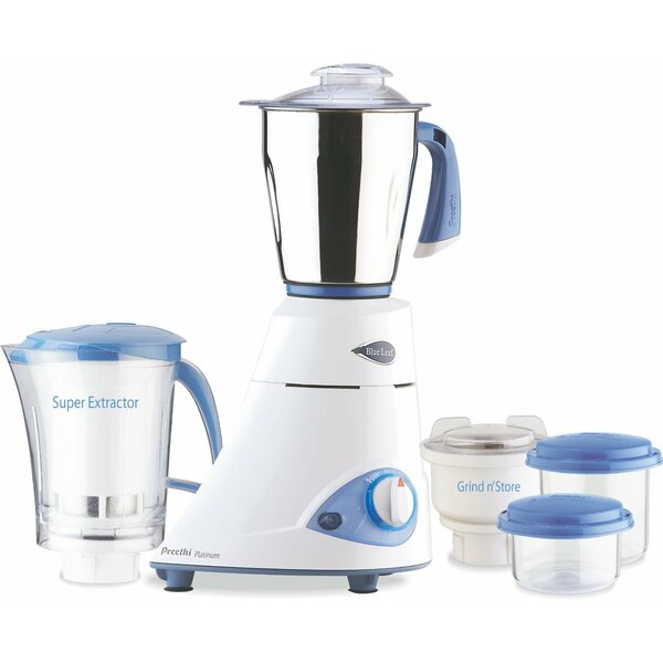 Leaf Platinum 550 Watts 3 Jar Mixer Grinder by Preethi