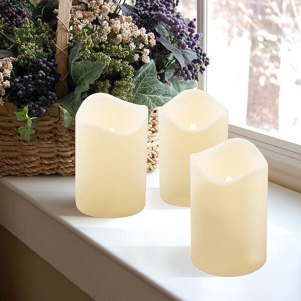 Miami Shores Flameless Candle (Set of 3) by Beachcrest Home