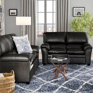 Black Leather Living Room Sets You\'ll Love