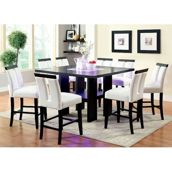 Kristina 9 Piece Pub Table Set by Orren Ellis