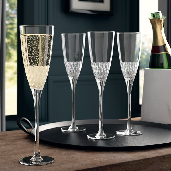 Lebanon Glass 8.8 oz. Champagne Flute Set (Set of 4) by Greyleigh