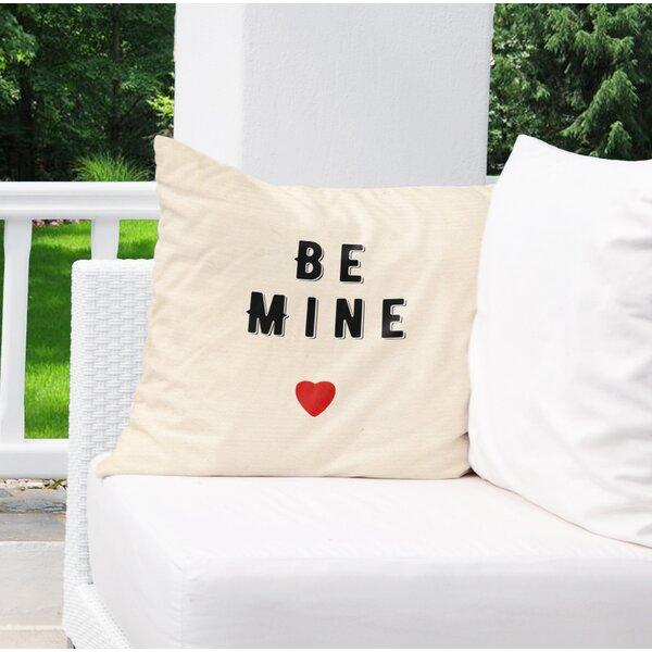 Be Mine Burlap Indoor/Outdoor Pillow by KAVKA DESIGNS
