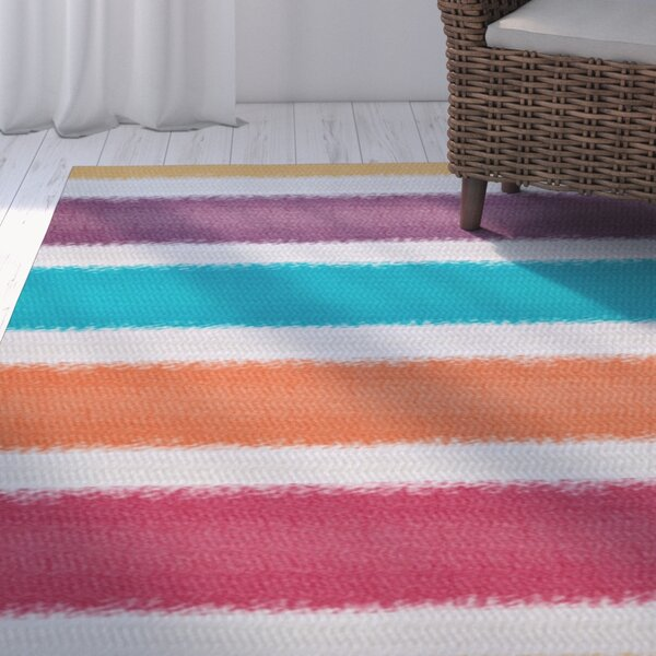 Golden Gate Purple/Orange/Blue Indoor/Outdoor Area Rug by Beachcrest Home