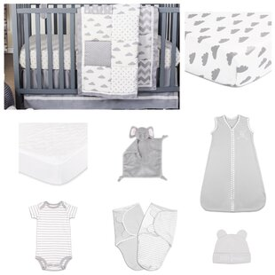 Read Reviews Patchy Cloud Essentials 11 Piece Crib Bedding Set By The Peanut Shell