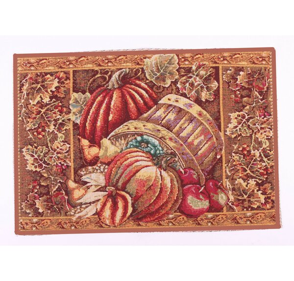 Fall Harvest Red Area Rug by Violet Linen