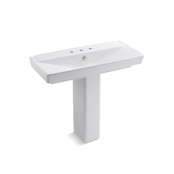 Reve Ceramic 6 Pedestal Bathroom Sink with Overflow by Kohler