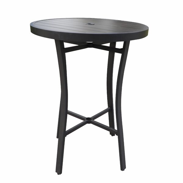 Rolla Aluminum Bar Table by Canora Grey