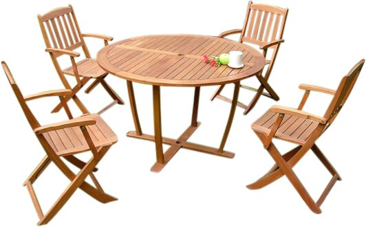 Berlinville 5 Piece Dining Set by Charlton Home