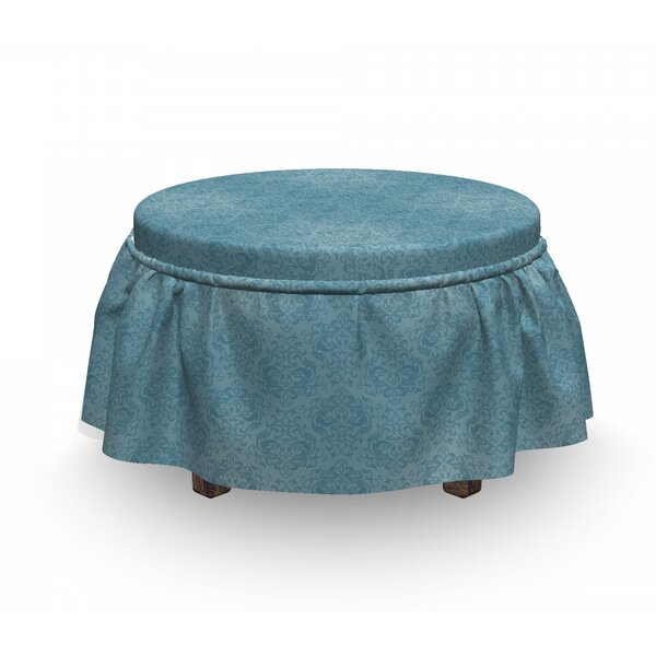 Abstract Damask Ottoman Slipcover (Set Of 2) By East Urban Home