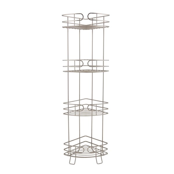 Alisa 4 Tier Corner Spa Tower 11.26 W x 24.8 H Shelving by Rebrilliant