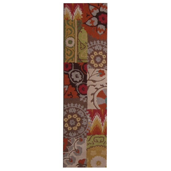 Hand-Tufted Multi-colored Indoor Area Rug by Herat Oriental