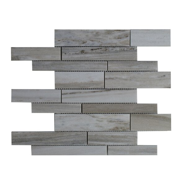 Palissandro Marble Mosaic Tile in Gray by Seven Seas