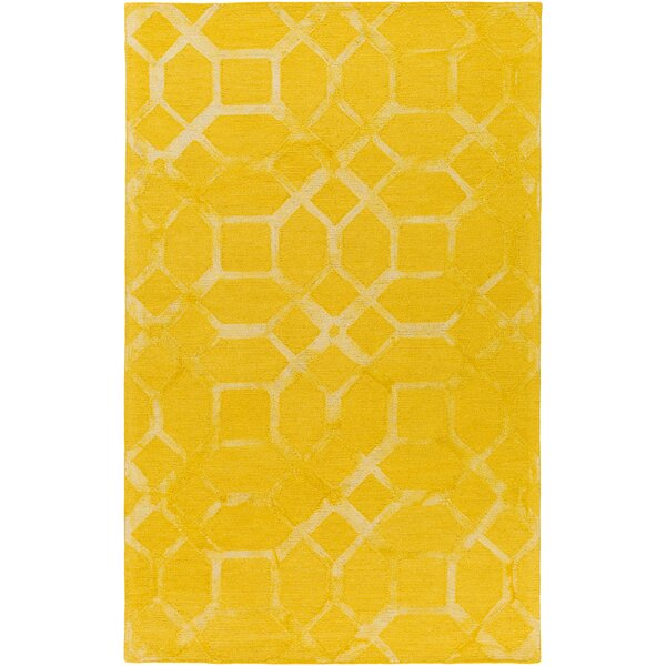 Glenmore Hand-Tufted Sunflower Area Rug by Ivy Bronx