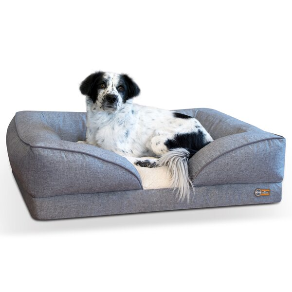 Pillow-Top Orthopedic Lounger Bolster by K&H Manufacturing