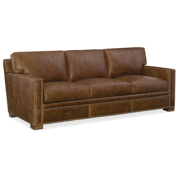 Jax Leather Sofa by Hooker Furniture