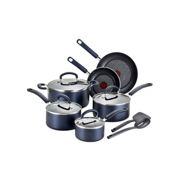 Luxe 12-Piece Non-Stick Cookware Set by T-fal
