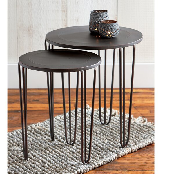 Burnished 2 Piece Nesting Table Set by TAG