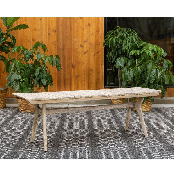 Nora Wooden Picnic Bench by Rosecliff Heights