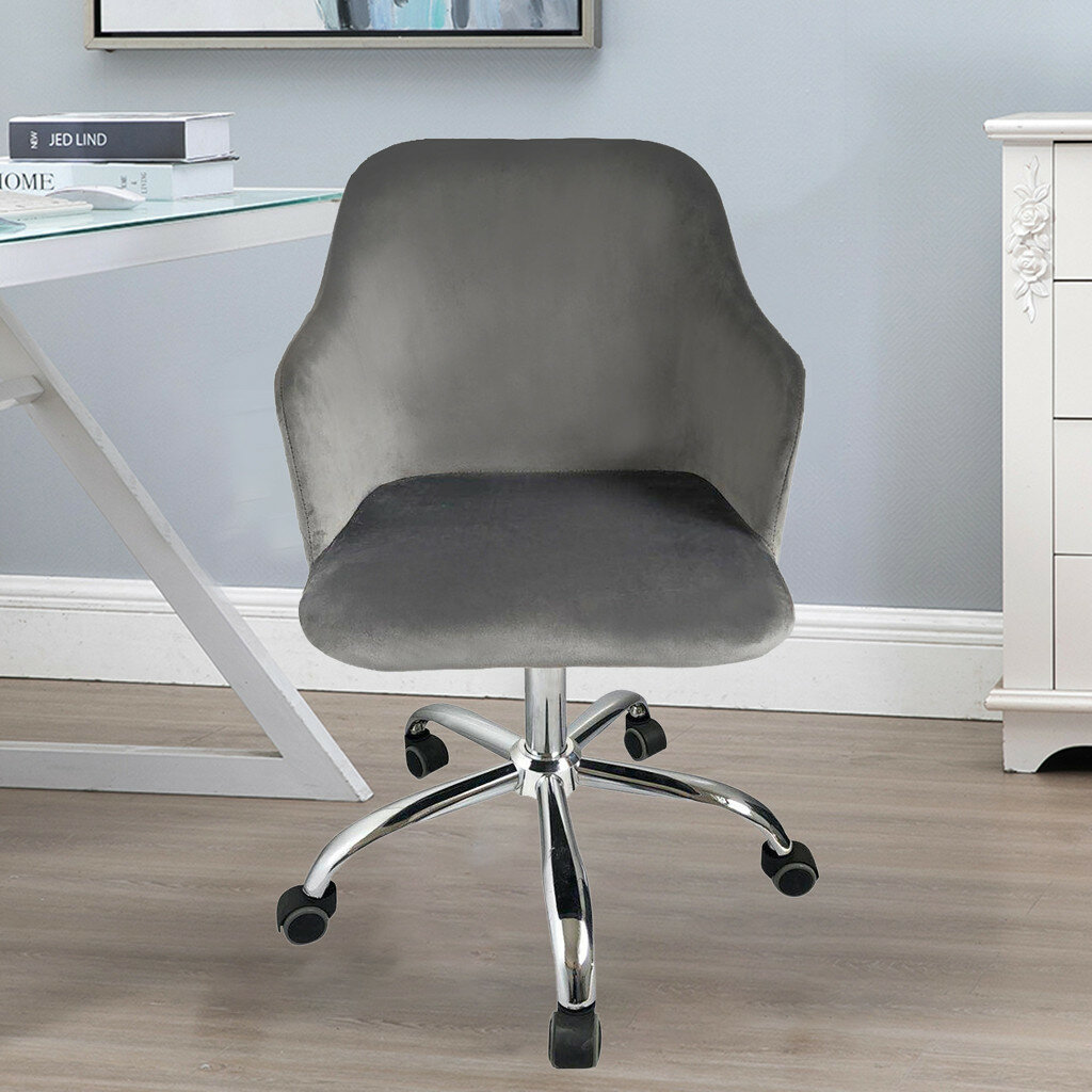 Formal Office Chair Leather Computer Chair Height Adjustable Home Stool