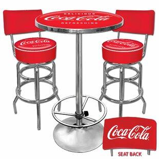 Reviews Coca Cola 3 Piece Pub Table Set ByTrademark Global