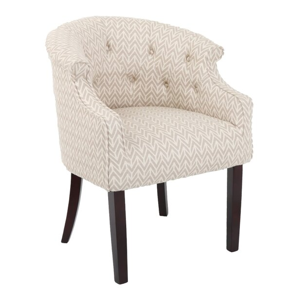 Inglesbatch Tufted Barrel Chair by Ebern Designs