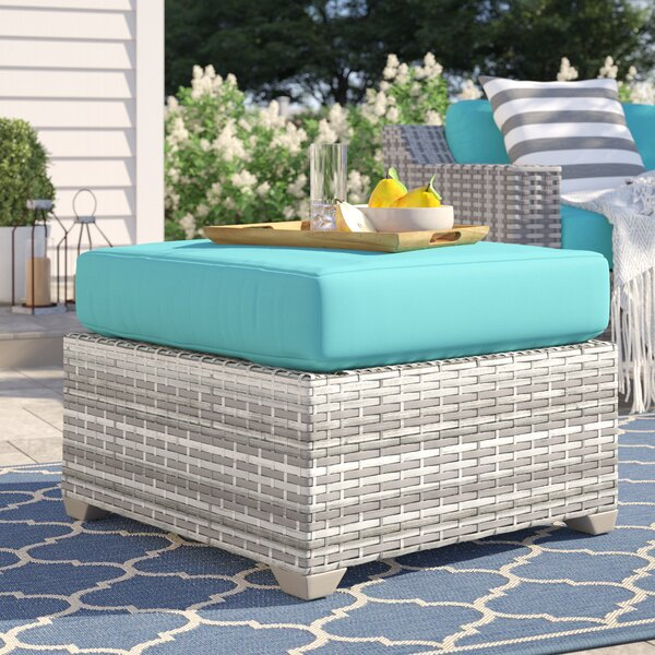 Falmouth Outdoor Ottoman With Cushion By Sol 72 Outdoor by Sol 72 Outdoor Savings