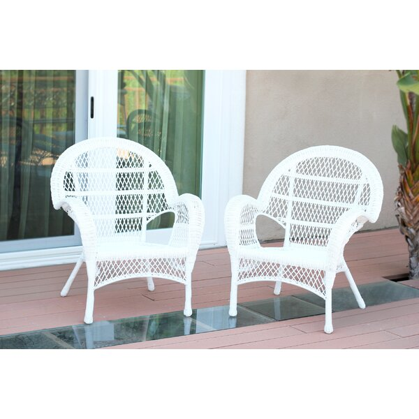 Wicker Armchair Chair (Set of 2) by Jeco Inc.