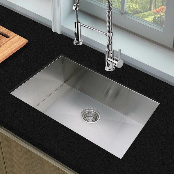 28 L x 19 W Undermount Kitchen Sink with Basket Strainer