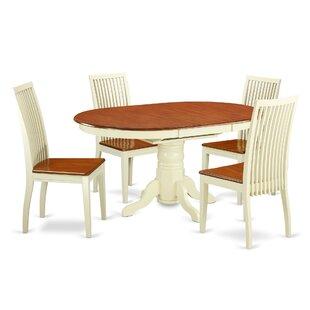 Aimee 5 Piece Solid Wood Dining Set ByAugust Grove