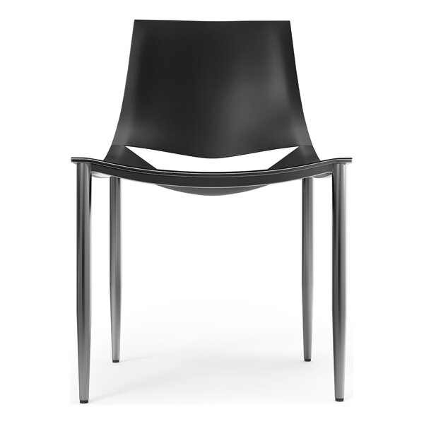 Sloane Genuine Leather Upholstered Dining Chair by Modloft Black