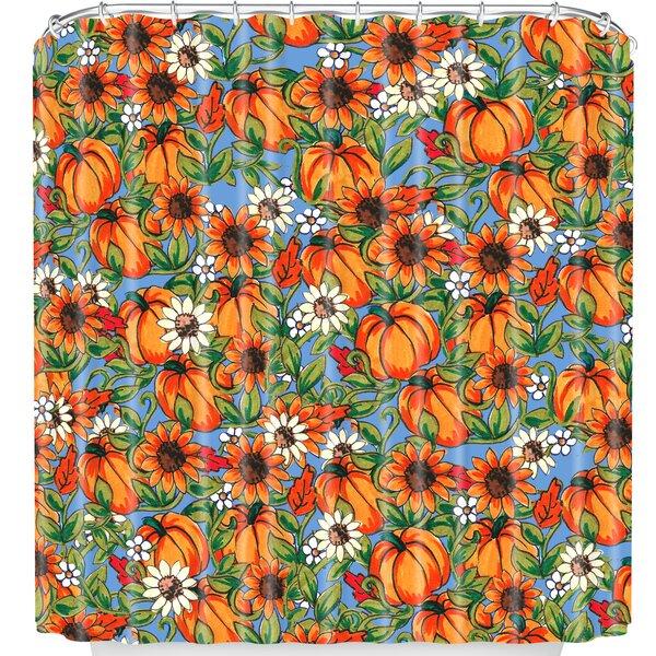 East Urban Home Pumpkin Harvest Shower Curtain