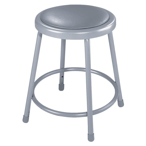 Padded Stool with Footring by National Public Seating