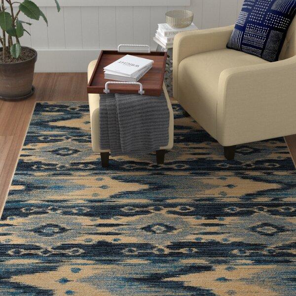 Ames Blue/Beige Area Rug by Red Barrel Studio