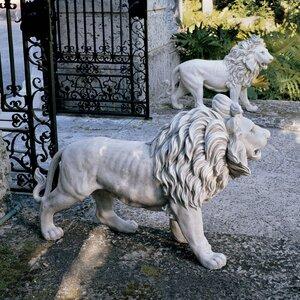 Regal Lion Sentinels of Grisham Manor Statue (Set of 2)