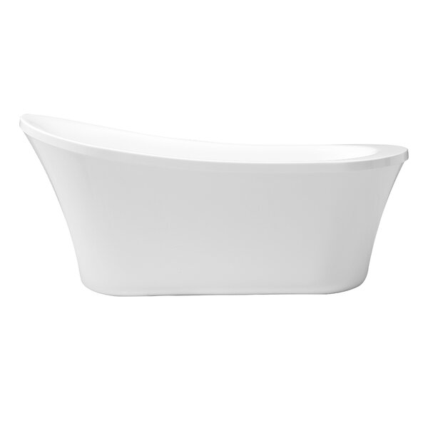 Zeya 65 x 29 Freestanding Soaking Bathtub by Cahaba