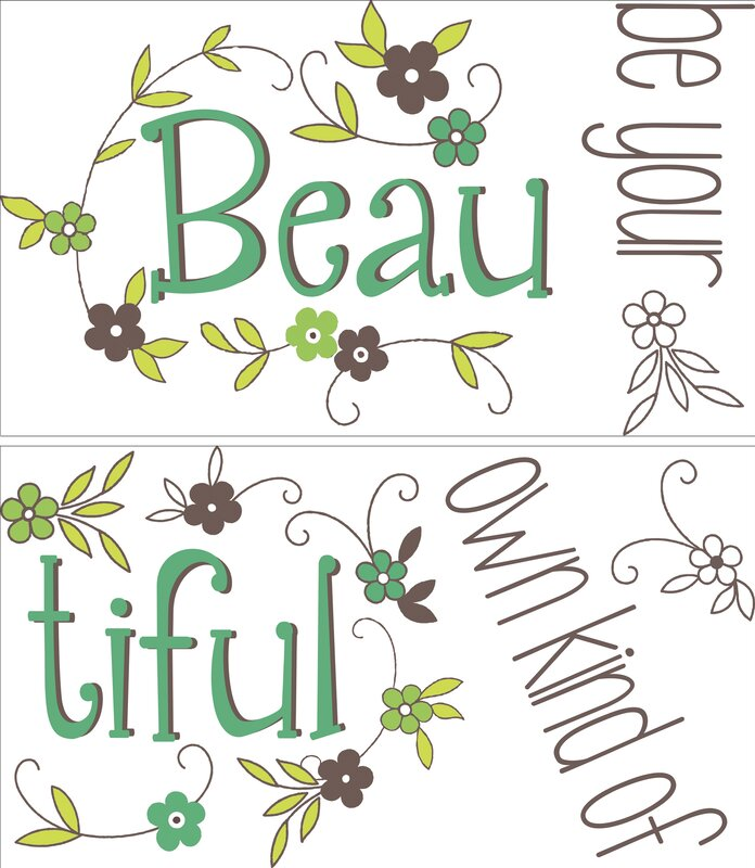 Be Your Own Kind Of Beautiful Wall Art wallpops! wall art kit be your own kind of beautiful quote wall