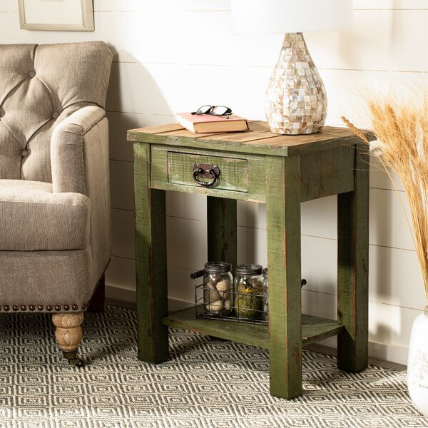 Meansville End Table With Storage By Millwood Pines