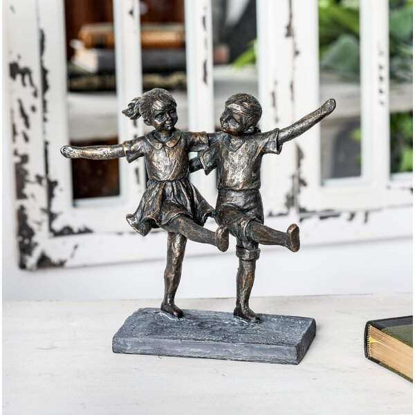 Bryant Contemporary Dancing Children Figurine by Alcott Hill
