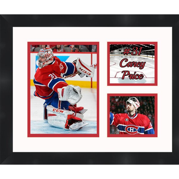 Montreal Canadiens Carey Price 31 Photo Collage Framed Photographic Print by Frames By Mail