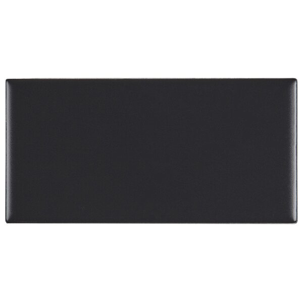 Guilford 3 x 6 Ceramic Subway Tile in Matte Black by Itona Tile