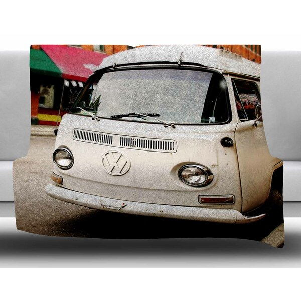 VW Bus by Angie Turner Fleece Blanket by East Urban Home