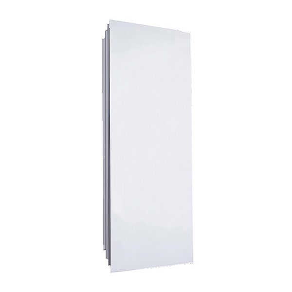 Autryville Partially Recessed Mount Frameless 1 Door Medicine Cabinet with 7 Adjustable Shelves