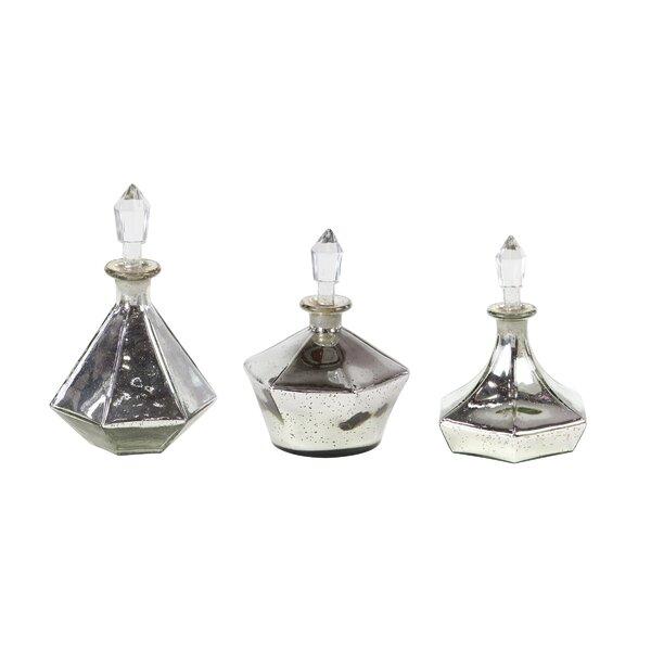 Askins 3 Piece Decorative Bottle Set by House of Hampton